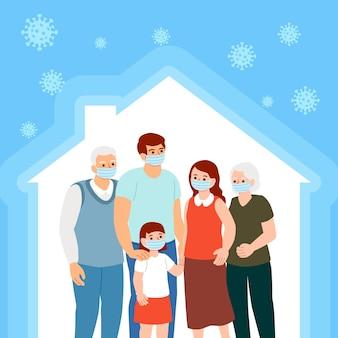 Generaciones de familias que se quedan juntas