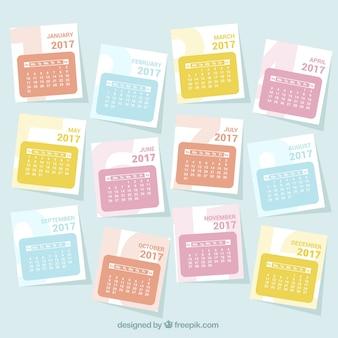 Genial calendario de 2017