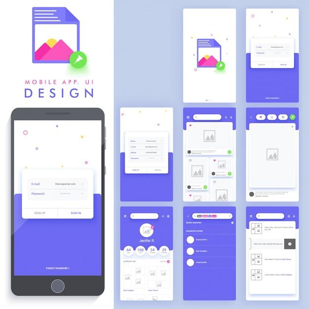 Genial diseño de aplicación móvil