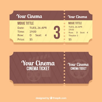 Genial entrada de cine en tonos marrones