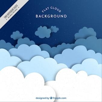 Genial fondo de nubes planas en tonos azules
