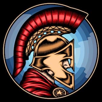 Genial guerrero espartano.