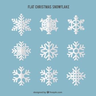 Genial pack de copos de nieve planos