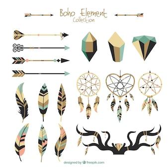 Genial selección de elementos étnicos planos