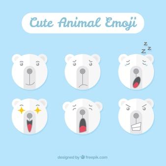 Geniales emoticonos de oso polar