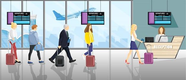 Gente en el aeropuerto