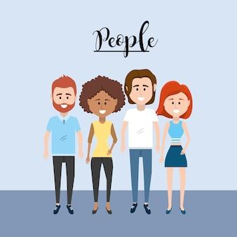 Gente agradable junto con diseño de ropa