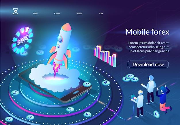 La gente anima a rocket flying desde la pantalla móvil