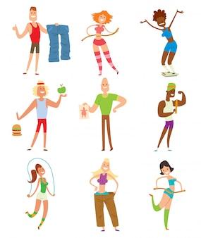 Gente de la aptitud de la belleza pérdida de peso