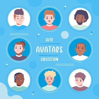 Gente, avatar, colección, colección de ilustraciones