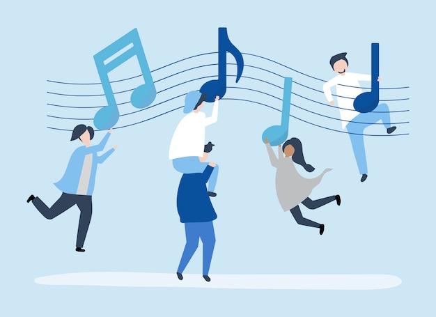 Gente bailando al ritmo de la música.