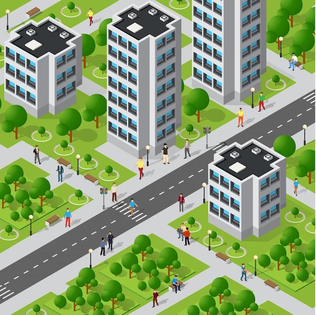 Gente caminando por la ciudad.