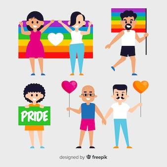 Gente celebrando el día del orgullo