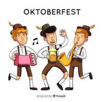 Gente celebrando oktoberfest
