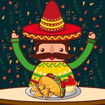Gente comida mexicana
