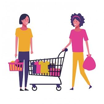 Gente y compras