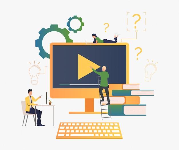 Gente creando video