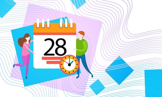 Gente de negocios mantenga calendario