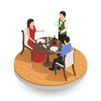Gente degustando vino en restaurante