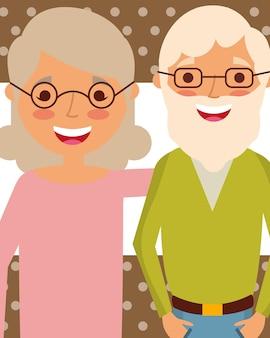 Gente del día de los abuelos