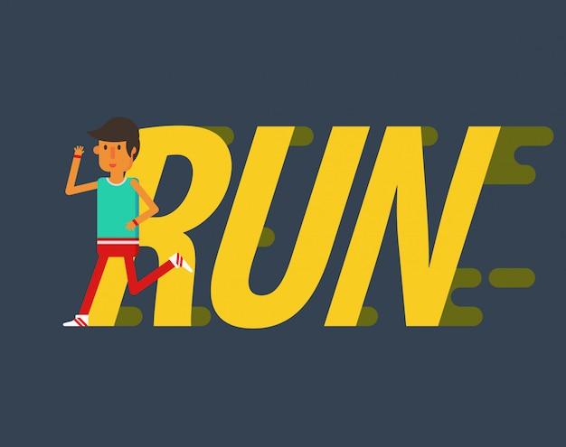 Gente de diseño plano correr
