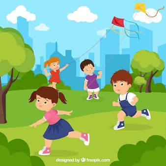 Gente disfrutando de actividades de ocio al aire libre