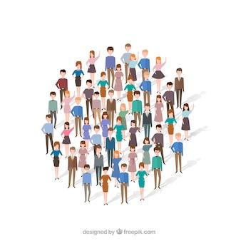 Gente divertida formando un círculo