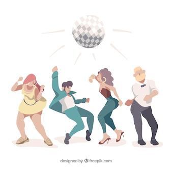 Gente divirtiéndose en una fiesta