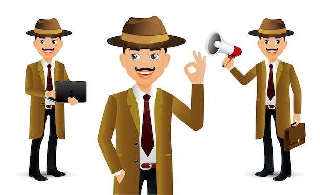 Gente elegante. profesional detective