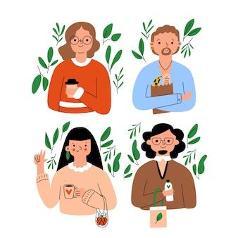 Gente de estilo de vida verde