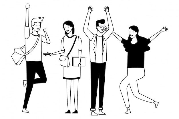 Gente estudiante fiesta dancehall