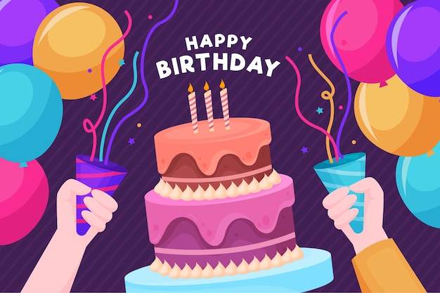 Gente feliz cumpleaños, tener una fiesta
