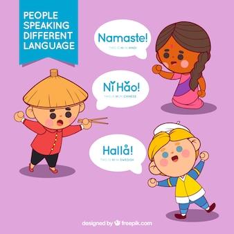 Gente hablando diferentes idiomas