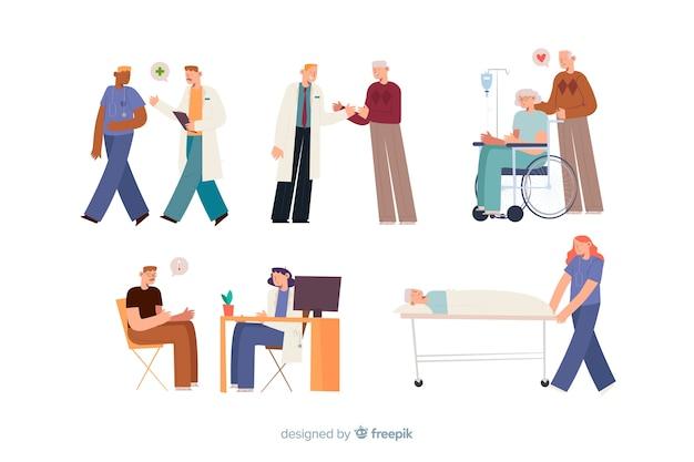 Gente en el hospital