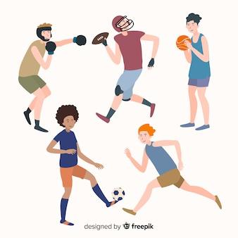 Gente jugando deportes
