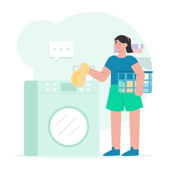 Gente lavando ropa