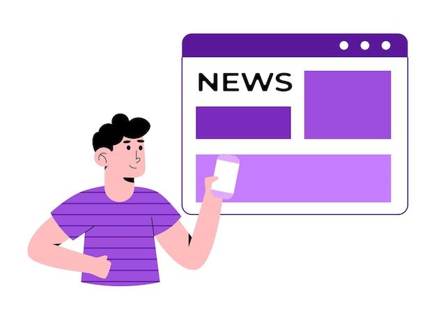 Gente leyendo noticias
