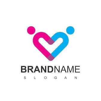 Gente, logotipo, sociedad, familia, y, equipo, trabajo, símbolo