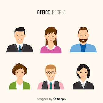 Gente moderna de negocios con diseño plano