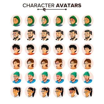 Gente de negocios avatar set.
