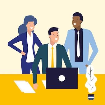 Gente de negocios y concepto de trabajo