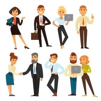 Gente de negocios mientras la ilustración de vector de plantilla de tiempo de trabajo