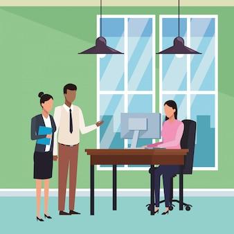 Gente de negocios y oficina