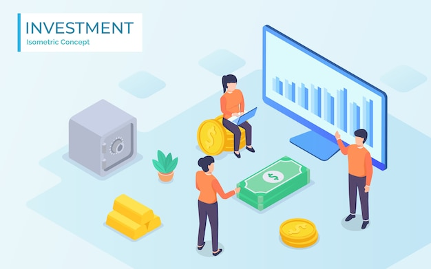 Gente de negocios trabajando juntos y desarrollando una tabla financiera exitosa con plantas en crecimiento: concepto de inversiones y finanzas