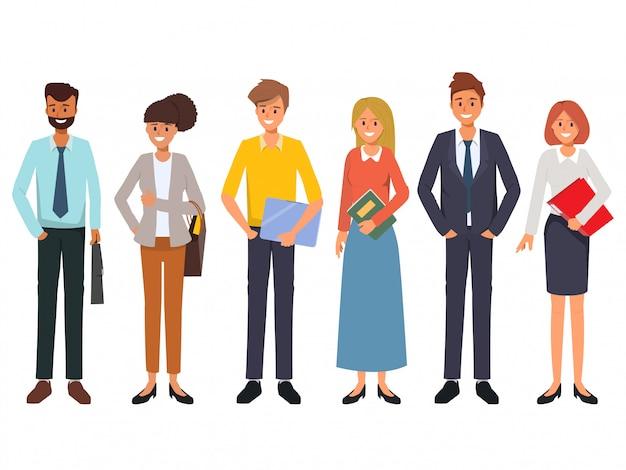 Gente de negocios trabajo en equipo oficina personaje