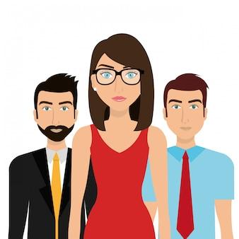 Gente de negocios y trabajo en equipo.