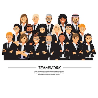 Gente de negocios trabajo en equipo