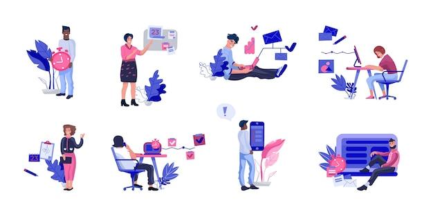Gente organizando con éxito el trabajo ilustración.
