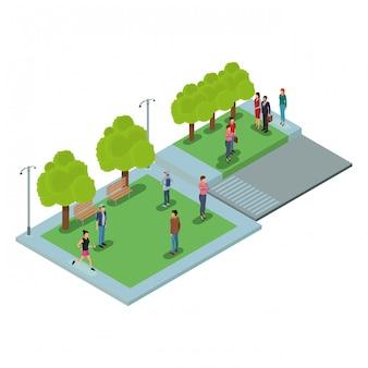 Gente en el parque