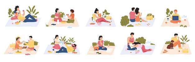Gente en picnic